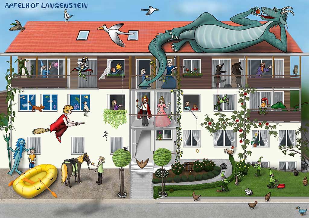 Kinder Apfelhof Langenstein Ferienwohnungen Bodensee